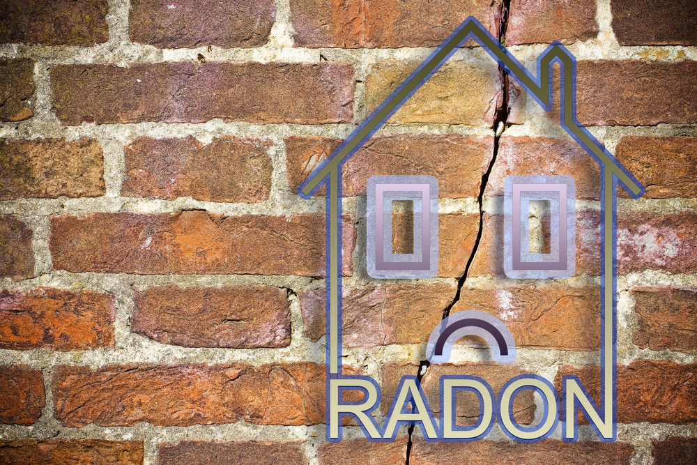 image of a house with radon underneath representing radon levels