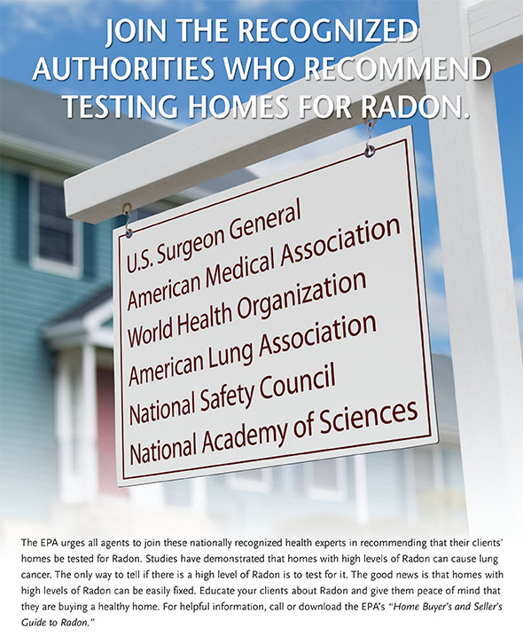 EPA Radon Realty Sign Ad