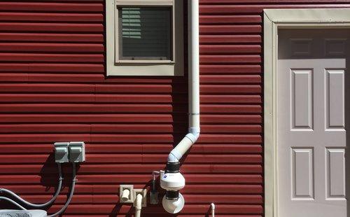 Finished Radon Mitigation System