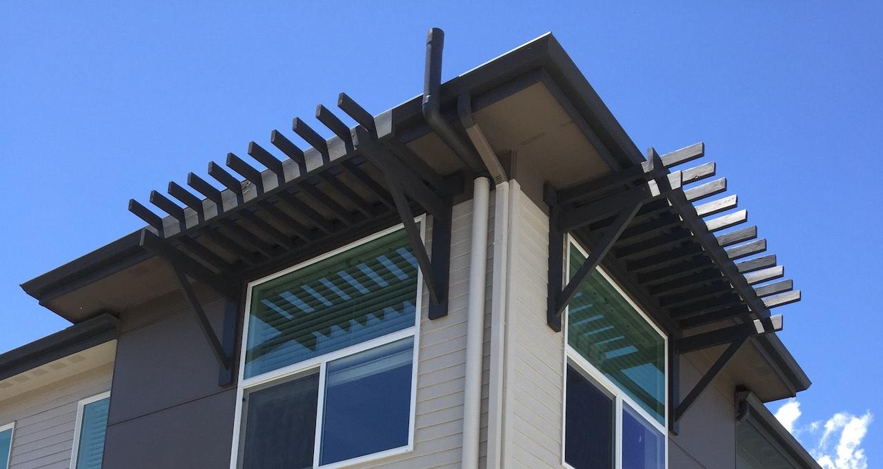 Radon Mitigation at Roof Line