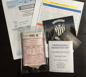 Charcoal Radon Test Kit