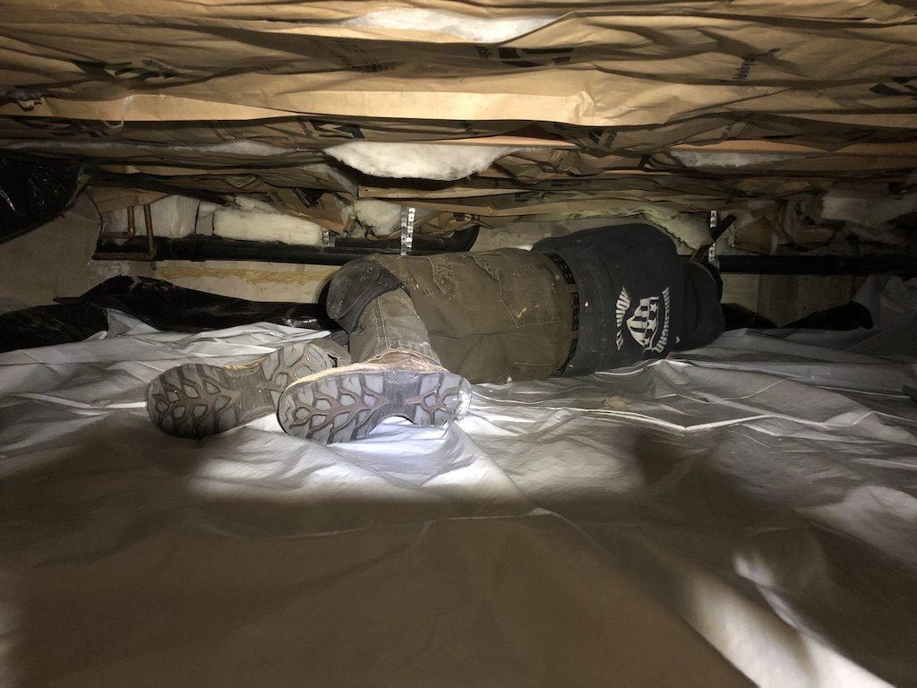 Crawl space membrane Repair