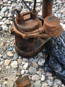Old sump pump