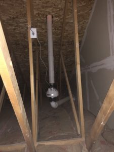 Passive to active radon mitigation in attic