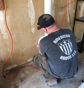 radon mitigation system installation from american radon's John Cardos