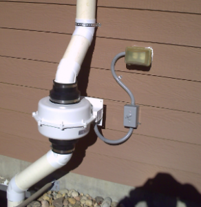 exterior radon mitigation in fountain system