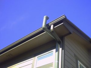 radon mitigation system roof exit